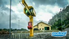 Italy - Val di Susa • Remote Controlled Jib Crane with Bucket